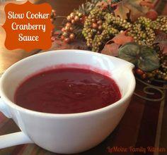 Slow Cooker Cranberry Sauce   LeMoine Family Kitchen