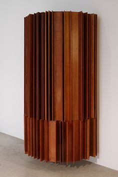 Vincenzo De Cotiis, cabinet L 90 W 50 H 170 cm, recycled wood, black painted wood (inside), 2012