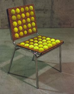 Tennis ball chair instructable by Wholman