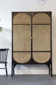 Perfect for most décor styles the Sungkai Woven Cane Wooden Wardrobe will soften industrial interiors, add glorious texture to earthy styles and a trendy twist to boho interiors! Wooden Wardrobe, Wardrobe Furniture, Cane Furniture, Rattan Furniture, Kitchen Furniture, Furniture Design, Furniture Market, Furniture Removal, Cheap Furniture