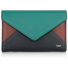 Chloé Small Leather Goods, Portefeuille Patchwork Trifold Multicolor... ($380) ❤ liked on Polyvore featuring bags, wallets, colorful, leather credit card holder wallet, snap closure wallet, leather wallet, pocket wallet and flap wallet