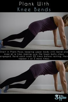 5 ways you can make plank more intense   2. Plank With Knee Bends...  30Fifteen | Plank | Core Strength | Health | Fitness | Workout | Abs | Ab Workout | Body Weight Training | Core Work | Active Life | Blog