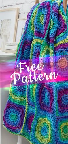 Floral-Beauty-Throw-CROCHET-FREE-PATTERN #freecrochetpatterns #crochet #freecrochet #easycrochet #diycrochet #patternsfree #crochet2 #croche #feshioncrochet
