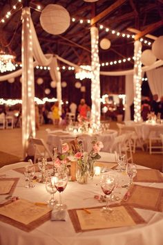 I like the simple and romantic table settings and environment