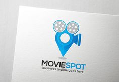 Movie Spot Logo Templates Movie Spot Logo is an old rolling tape video camera joined with a pin point image as a locator sign by Slim Studio Badge Template, Logo Templates, Music Festival Logos, Edit Text, Construction Logo, Text Fonts, Modern Logo Design, Photo Logo, Logo Inspiration