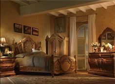 Classic Style Bed Furniture for Bedroom Interior design By AICO
