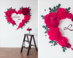 This item is unavailable Flower Wall Backdrop, Wall Backdrops, Backdrop Design, Diy Backdrop, Flower Wall Decor, Backdrop Wedding, Large Paper Flowers, Paper Flowers Wedding, Paper Flower Wall
