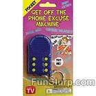 Get Off the Phone Excuse Machine-6 Funny Excuses-Novelty Key Chain-Gag Gift-NEW - ChainGag, Excuse, ExcusesNovelty, Funny, GiftNEW, Machine6, Phone