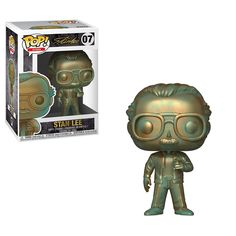 Honor Stan Lee with the Funko POP! Stan Lee w/ Patina Vinyl Figure. Stan Lee literally shaped the way we view all super heroes and there is no way we can thank him for that, but at least we can have a cool way to remember him. Marvel Comics, Marvel Avengers, Funko Pop Marvel, Captain Marvel, Captain America, Marvel Pop Vinyl, Marvel Room, Marvel Fan, Lego Marvel