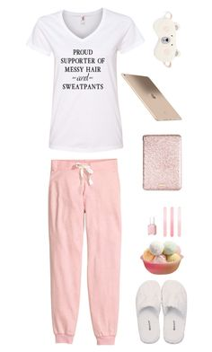 """Proud supporter of messy hair and sweatpants"" by musicfriend1 ❤ liked on Polyvore featuring H&M, GANT, Make + Model, Kate Spade, Accessorize, Essie, women's clothing, women's fashion, women and female"