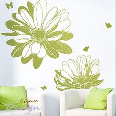 Amazing big 2 flowers 16 butterflyart Graphic removable by ccnever, $36.50