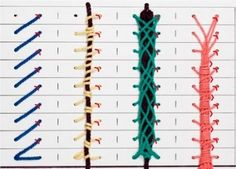 Puntos de encuadernación - Bookbinding stitches http://www.guildofbookworkers.org/resources/documents/sewings.pdf