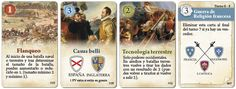 New event cards for Ultima Ratio Regis, now in color. Baseball Cards, Color, Colour, Colors