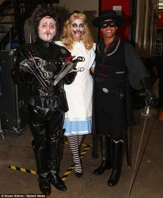 Spooky: Leigh Francis (aka Keith Lemon), Holly Willoughby and Gino A'Acampo dress up for the Halloween special of Celebrity Juice Kourtney Kardashian Instagram, Khloe Kardashian And Tristan, Kylie Jenner Instagram, Celebrity Fancy Dress, Celebrity Dresses, Lily Allen Instagram, Gino D'acampo, Tyga And Kylie, Halloween Fancy Dress