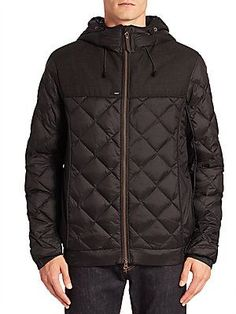 Nobis Elroy Quilted Hooded Jacket - Black