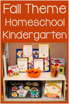 Fall Theme Homeschool Kindergarten Fun from @1plus1plus1