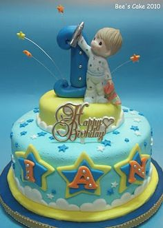 Without Figurine And With Brighter Colors Baby Boy Cakes For Boys