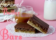 Caramel Butter Pecan Bars ~ by Cookbook Queen
