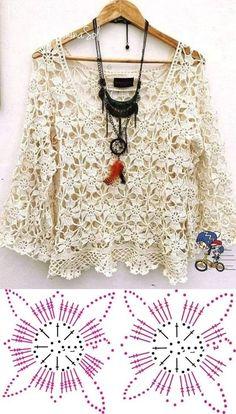 Shawl Crochet, Gilet Crochet, Crochet Coat, Freeform Crochet, Crochet Cardigan, Crochet Clothes, Crochet Lace, Crochet Stitches, Crochet Shrugs