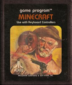 Minecraft (Atari cartridge style) by ~StarRoivas on deviantART
