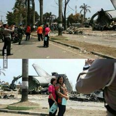 116 people just died in a plane crash nearby? Oh yea why not take a photo with it.