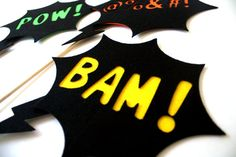 Action Bubbles. Superhero Photo Props. Party Props. by MaroDesigns, $20.95