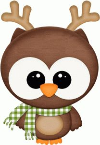 Silhouette Design Store - View Design #71172: owl w reindeer antlers pnc