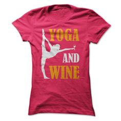 Yoga And Wine T Shirts, Hoodies. Check price ==► https://www.sunfrog.com/Sports/Yoga-And-Wine--Limited-Edition--Not-Available-in-Store--Dont-Miss-Out-34168640-Ladies.html?41382 $19
