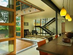 Glass Wall House Design, Leschi Residence In Seattle, Modern Houses