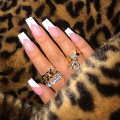French Nails, French Tip Acrylic Nails, Best Acrylic Nails, White Tip Acrylic Nails, French Acrylics, Gorgeous Nails, Pretty Nails, Perfect Nails, Aycrlic Nails