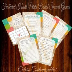 Wedding Shower Games/ DIY Printable DIGITAL file/ Flowers and Lace/ Bridal Shower Bingo-Mad Libs--Celebrity Couples--That's What He/She Said on Etsy, $30.00
