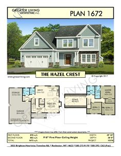 Greater Living Architecture in Rochester, NY provides premier home plans for any stage of life from Starter to Luxury to Empty Nester homes. Two Story House Design, House Plans 2 Story, Sims House Plans, Two Story Homes, New House Plans, Small House Plans, House Floor Plans, The Plan, How To Plan