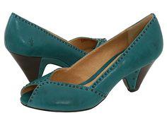 Frye Shoes Maya Vintage Stud Peep Toe Pump