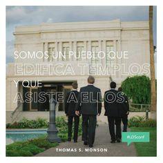 """""""Somos un pueblo que edifica templos y que asiste a ellos"""" #ldsconf #PresMonson #SUDespanol"""