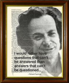 "Richard Feynman Quote / Upcycled Antique Dictionary Page / Science vs. Religion / Art Print / 8.5""x11"" (210x280 mm) Poster"