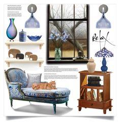 """Just Relax"" by hastypudding ❤ liked on Polyvore featuring interior, interiors, interior design, home, home decor, interior decorating, Georg Jensen, Branton Home, Kosta Boda and Richard Ginori"