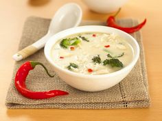 Thai-style food tends to be very popular with children and this quick, easy-to-prepare Thai soup recipe is almost a meal in itself. Add more chilli if you want to spice it up a little.
