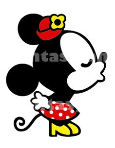 Minnie Mouse besos DIY hierro imprimible por FantasylandPrintable