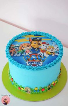 New birthday cake kids boys paw patrol 25 ideas Birthday Cake Kids Boys, 3rd Birthday Cakes, Birthday Ideas, Birthday Cards, Happy Birthday, Bolo Do Paw Patrol, Paw Patrol Torte, Paw Patrol Chase Cake, Paw Patrol Cupcakes