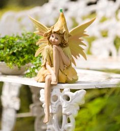 Large Nature Fairy Statue adds enchantment addition to home or garden.