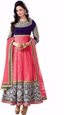 Maruticreation Embroidered Kurta & Churidar - Buy Pink Maruticreation Embroidered Kurta & Churidar Online at Best Prices in India | Flipkart.com