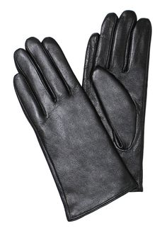 Ladies Real Leather Gloves with Velvet Fleece Lining