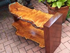 Mesquite and mahogany console