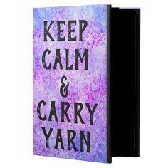 Keep Calm and Carry Yarn Purple iPad Air Case - glitter glamour brilliance sparkle design idea diy elegant