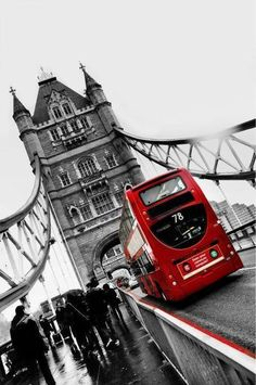 Tower Bridge and Double Decker Bus