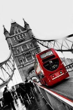 Tower Bridge and Double Decker Bus