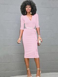 V-neck Sleeves Irregular Drape Long Dress – Bags in Cart Fabulous Dresses, Elegant Dresses, Sexy Dresses, Fashion Dresses, Dresses For Work, Work Outfits, Church Outfits, Pretty Dresses, Dress Outfits