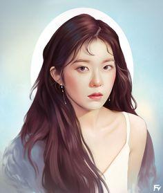 Kpop Girls, Fan Art, Portrait, Artwork, Anime, Faces, Work Of Art, Headshot Photography, Auguste Rodin Artwork