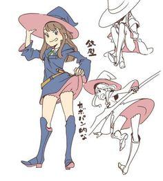 sushiobunny:  Artist 拓 reveals the secret of Little Witch Academia's lack of panty-shots.