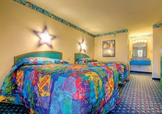 Disney Resort Hotels, Disney's All-Star Movies Resort - Guest Room, Walt Disney World Resort Disney World Parks, Walt Disney World Vacations, Disney Trips, Disney Hotels, Orlando Resorts, Hotels And Resorts, Top Hotels, Orlando Florida, Disney Magical Express